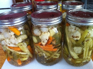 Accidental Locavore Pickled Vegetables