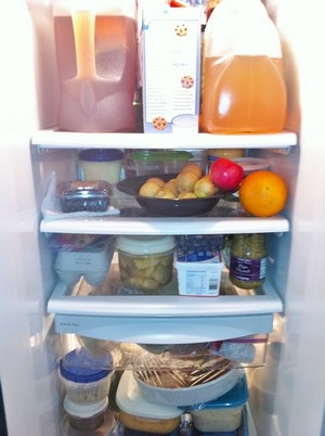 Accidental Locavore Fridge Before