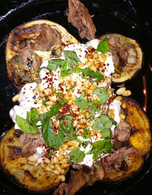 Accidental Locavore Lamb, Eggplant and Yogurt