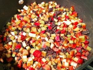 Accidental Locavore Rhubarb for Chutney