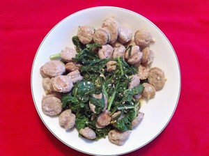 Accidental Locavore Turnip Greens With Andouille