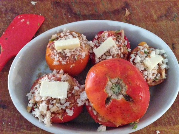 Accidental Locavore Merguez Stuffed Tomatoes