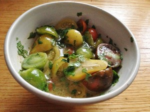 Accidental Locavore Tomato Salad With Chiles