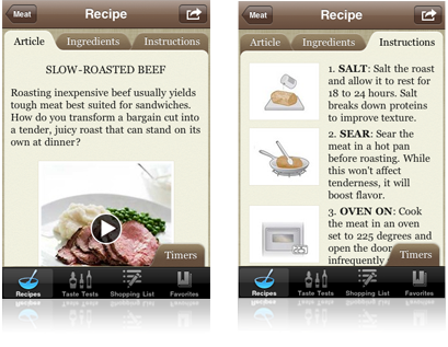 Accidental Locavore Cooks Illustrated App