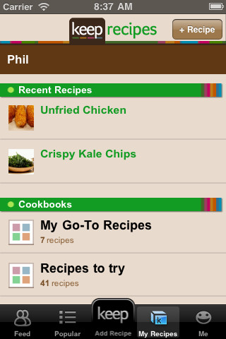 Accidental Locavore Keep Recipes App