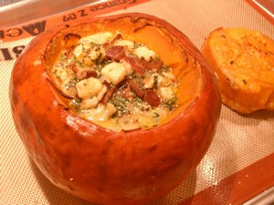 Accidental Locavore Stuffed Red Squash