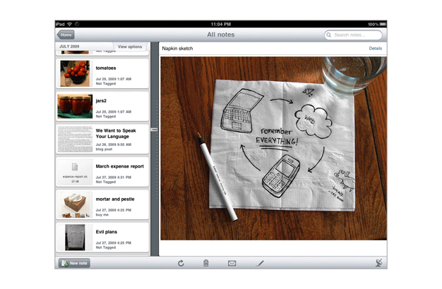 Accidental Locavore App Evernote