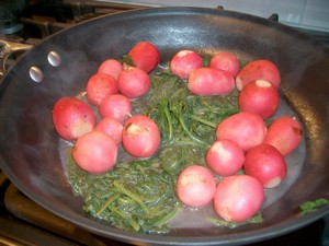 Accidental Locavore Braised Radishes