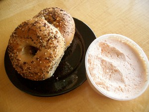 Accidental Locaovre Bagels and a Schmear