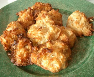 Accidental Locavore Coconut Macaroons on a Plate