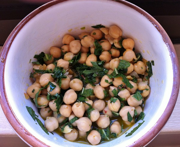 Accidental Locavore Chickpea Salad