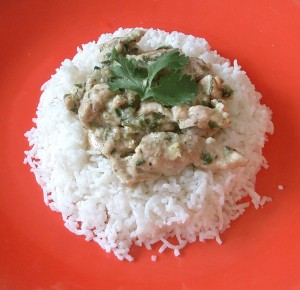 Microwave Chicken With Yogurt, Indian Style