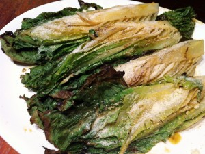 Accidental Locavore Grilled Romaine