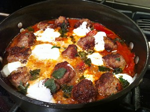 Accidental Locavore Lamb Meatballs With Yogurt
