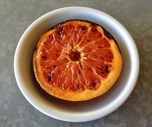 Accidental Locavore Grapefruit Brulee Plated