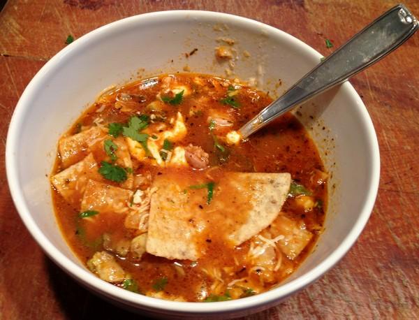 Accidental Locavore Tortilla Soup