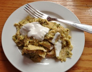 Accidental Locavore Chilaquiles With Crema