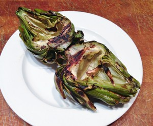 Accidental Locavore Grilled Artichoke