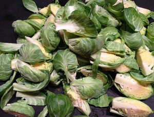 Accidental Locavore Quartered Brussels Sprouts