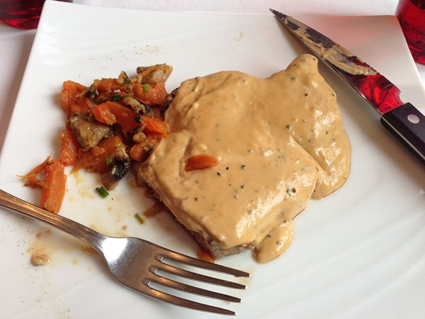 Accidental Locavore French food steak au poivre