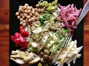 Accidental Locavore Sliced Salad