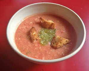 Accidental Locavore Gazpacho With Croutons