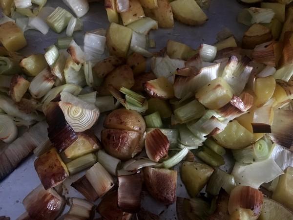 Accidental Locavore Potatoes and Leeks Roasted