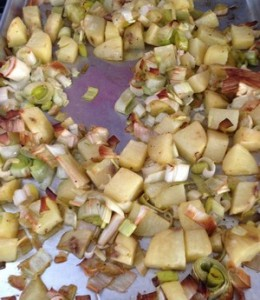 Accidental Locavore Roasted Potatoes and Leeks
