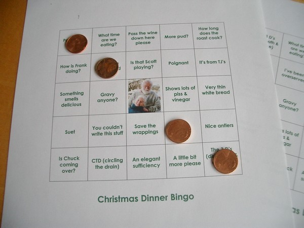 Accidental Locavore Christmas Bingo