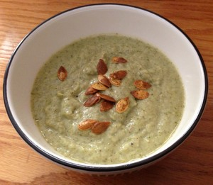 Accidental Locavore Roasted Broccoli Soup