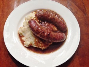 Accidental Locavore Bangers and Mash