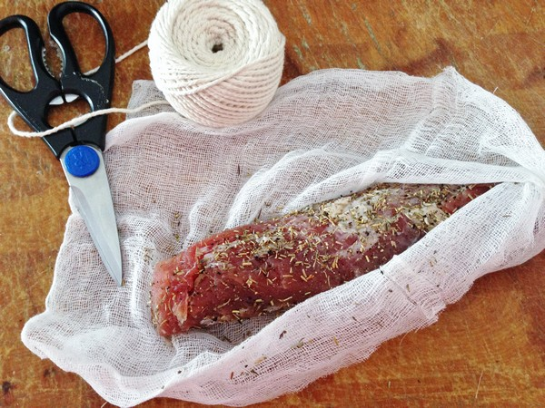 Accidental Locavore Saucisson Wrapped