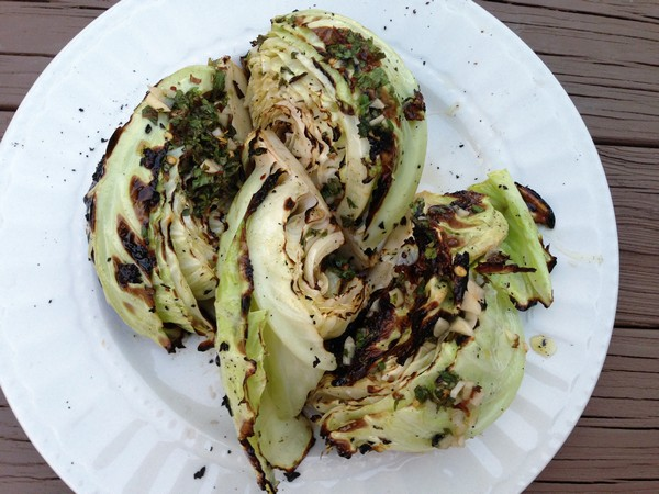 Accidental Locavore Grilled Cabbage