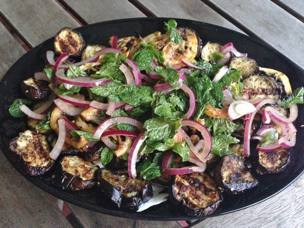 Accidental Locavore Grilled Eggplant and Lemon
