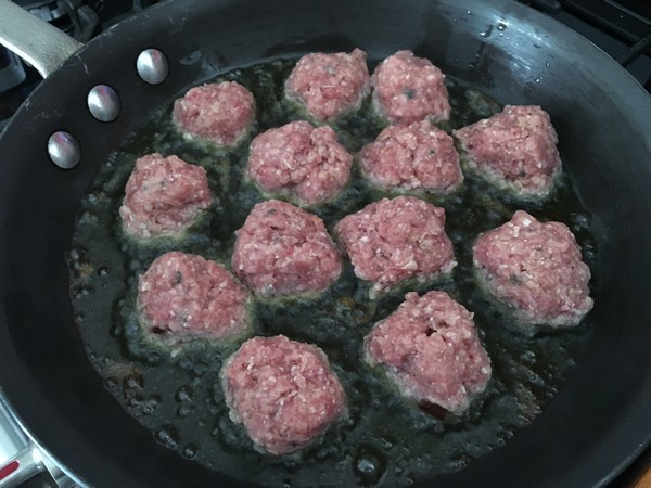 Accidental Locavore Frying Meatballs