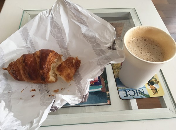 Accidental Locavore Croissant and Coffee To Go