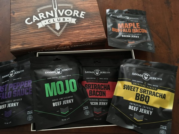 Accidental Locavore Carnivore Club Box of Beef Jerky