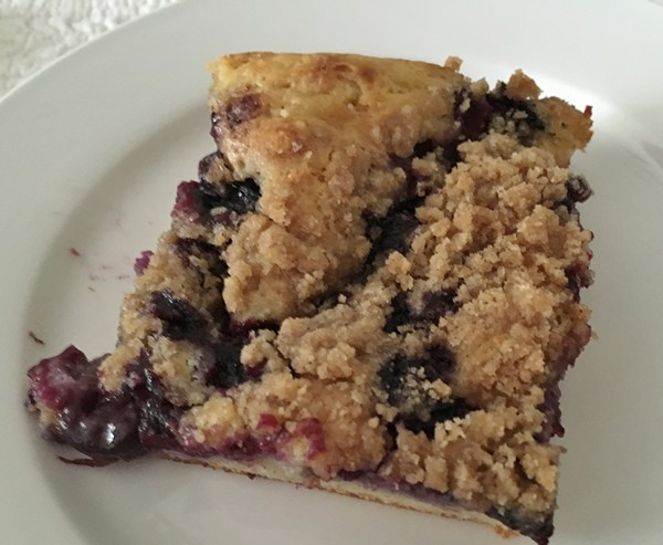 Accidental Locavore Blueberry Casserole