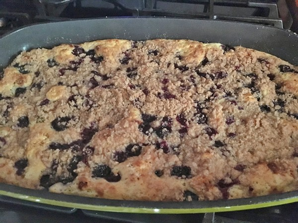 Accidental Locavore Finished Blueberry Casserole