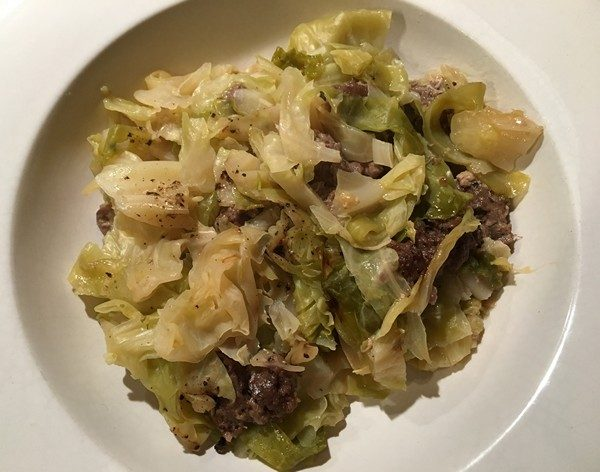 accidental-locavore-5-ingredient-cabbage-and-sausage