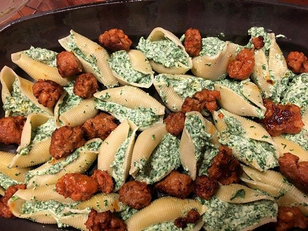 Accidental Locavore Stuffed Shells and Sausage