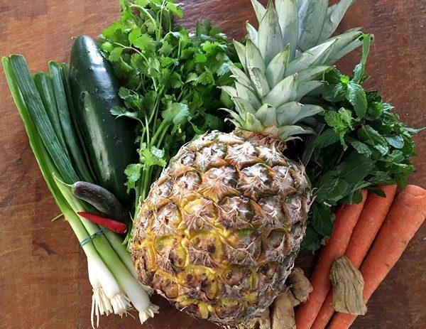 Accidental Locavore Pineapple Salad Ingredients