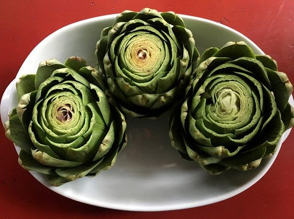 Accidental Locavore Prepped Artichokes