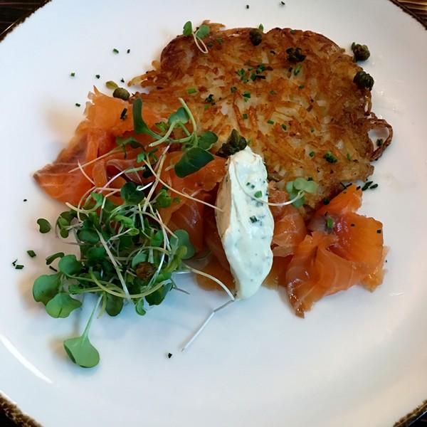 Accidental Locavore Smoked Salmon at the Amsterdam Restaurant