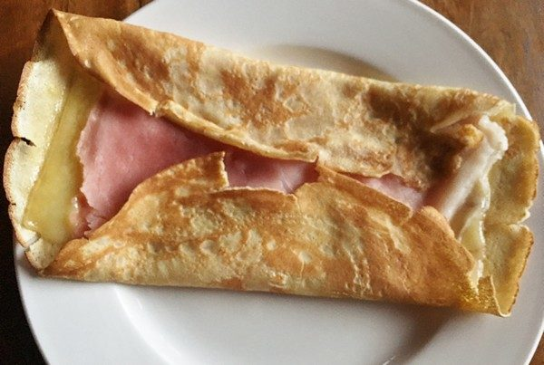 Accidental Locavore Crepe with Ham and Swiss