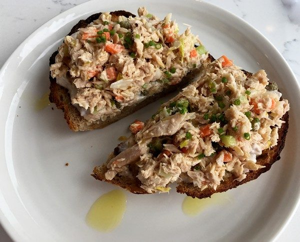 Accidental Locavore Pawling Bread Toast with Tuna