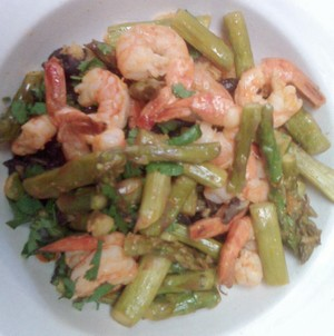 Accidental Locavore Shrimp and Asparagus