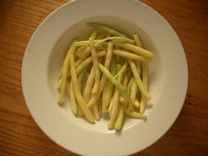 Accidental Locavore Wax Beans