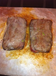 Accidental Locavore Steak on Pink Salt Block
