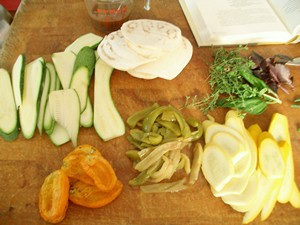 Accidental Locavore Veggies for Terrine